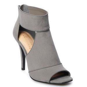 LC Lauren Conrad Grey Heel Sandals